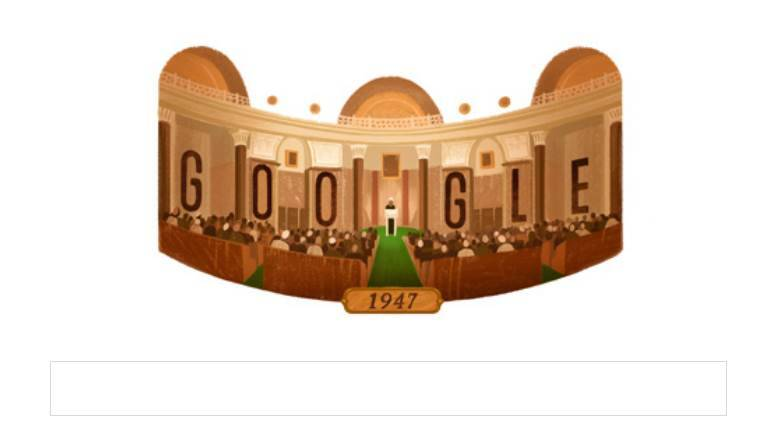 independence day, indian independence day, happy independence day, independence day google doodle, india independence day doodle, indian parliament house, jawaharlal nehru tryst with destiny speech, 70th indian independence day, google doodle, august 15,
