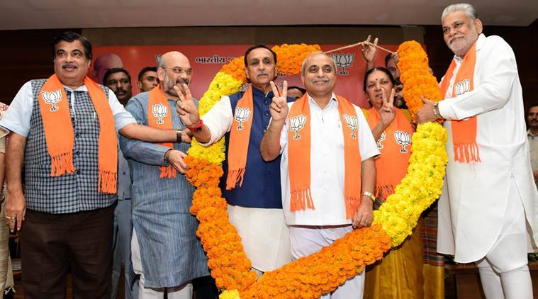 Gujarat CM, Gujarat news, new gujarat cm, new cm Vijay Rupani, Gujarat chief minister, new Gujarat CM, Nitin Patel, Rupani CM, BJP Rupani, Amit Shah, Nitin Gadkari, nitin gadkari gujarat, amit shah gujarat, gujarat news