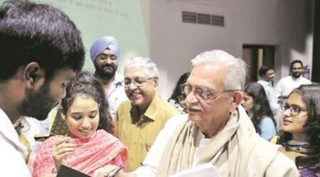 'We need to understand many layers of a poem… it is not limited to personal, but talks of pain of society' : Gulzar at PanjabUniveristy