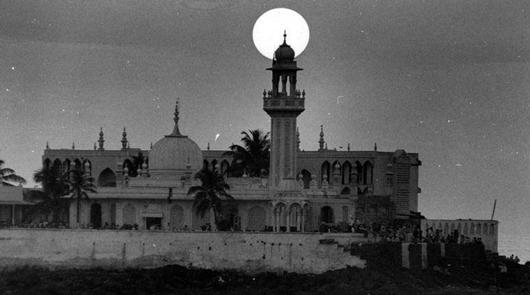 The sun sets over Haji Ali Dargah in Mumbai on (Express archive photo by Neeraj Priyadarshi)
