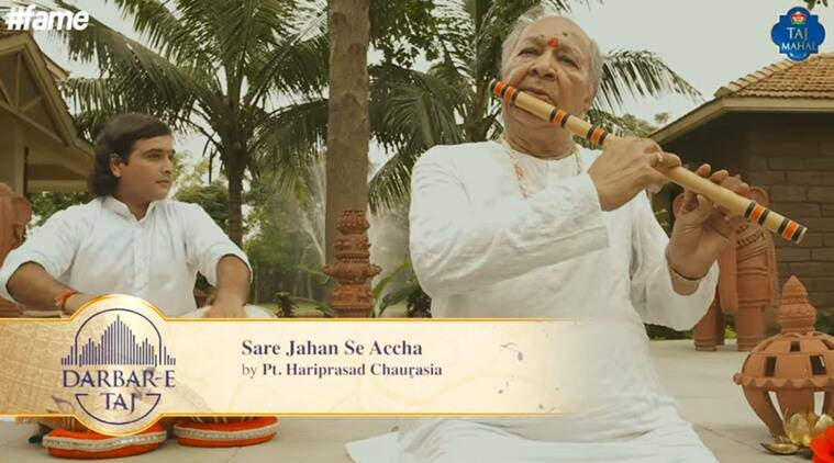 Hariprasad Chaurasia Sare Jahaan se achcha, Independence day sare jahaan se achcha, Hariprasad chaurasia independence day, independence day 70th, indi'a 70th independence day, trending on india's independence day,