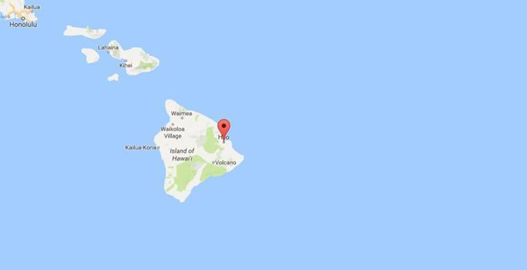 Hurrican Madeline Threatens Hawaii Islands The Indian Express - Hawaii islands on a map with us