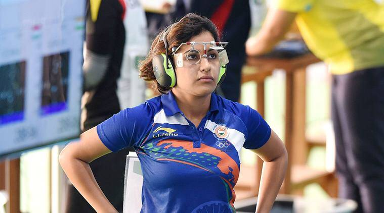 heena sidhu, heena sidhu shooting, iran hijab rules, iran shooting championship, asian airgun shooting championship, iran heena sidhu, sports news