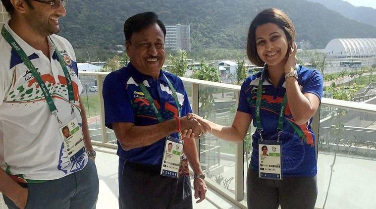 Heena Sidhu and her husband Ronak Pandit arrives in Rio