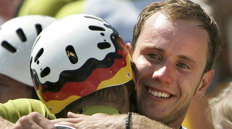 File photo of Germany's canoe coach Stefan Henze