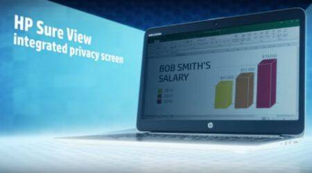 HP, HP Sure View, HP Sure View technology, visual data theft, HP EliteBook 1040, HP EliteBook 840, HP visual theft technology, cybercrime, data theft, gadgets, technology, technology news