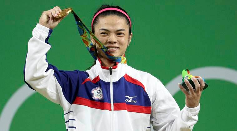 Hsu Shu-Ching gets gold in women's weightlifting 53-kg class