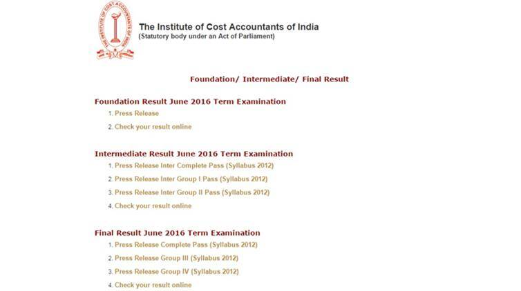 icmai, icmai result, icmai cma result, icmai cma Inter Final Results 2016, examicai.in, examicmai.org, icmai Final Result 2016, ICMAI Inter Result 2016, cma final result, cma result 2016, cma inter june 2016 result, ICMAI 2016 Result, ICWAI Intermediate Result 2016, ICWAI Intermediate Result June 2016, cma icai, icmai cma result, examicai.in result,icwai result, icai result page, icwai result, cma result, icmai.in,icai.nic.in,www.icmai.in,www.examicmai.org,www.examicai.in, icwai result 2016,ICWAI, cost accounting result, cma result website, education news