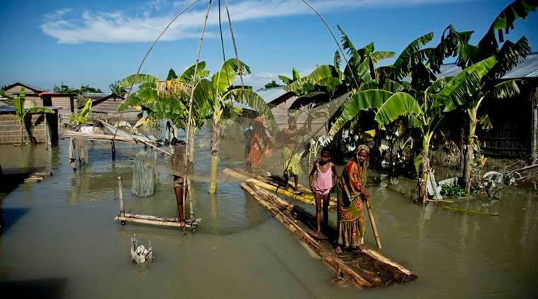 Assam floods, Assam flood situation, Assam news, India news, national news, latest news,  Jorhat, Golaghat, Barpeta, Dhubri, Morigaon, Kokrajhar, Nagaon, Goalpara
