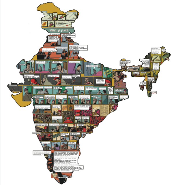 69 artists brilliantly showcase Indian historical landmarks on the map