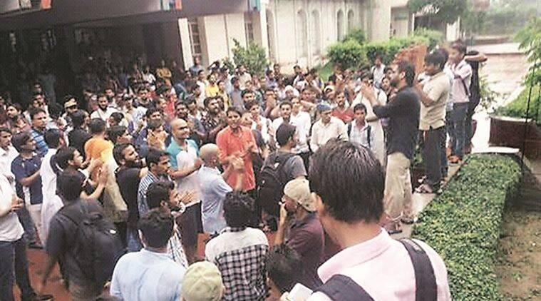 Students demanded a 'fair inquiry' into the matter. Express