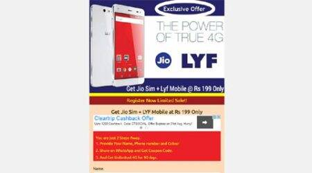 Reliance Jio, Reliance Jio 4G Scam, Jio 4G Scam, Reliance Lyf phone, Lyf branded phone, Lyf smartphone, Jio phone at Rs 199, Jio Scam, Lyf branded phone WhatsApp message