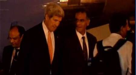 John Kerry stuck in Delhi's rain-induced traffic jam