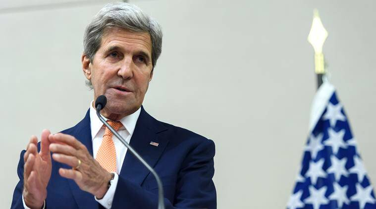 U.S. Secretary of State John Kerry, speaks to journalists after the meeting between John Kerry and Russian foreign minister Sergey Lavrov in Geneva, Switzerland, Friday, Aug. 26, 2016.The United States and Russia said Friday they had resolved a number of issues standing in the way of restoring a nationwide truce to Syria and opening up aid deliveries, but were unable once again to forge a comprehensive agreement on stepping up cooperation to end the brutal war that has killed hundreds of thousands. (Martial Trezzini/Keystone via AP)