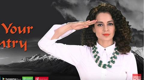 Kangana Ranaut pays tribute to Indian armed forces