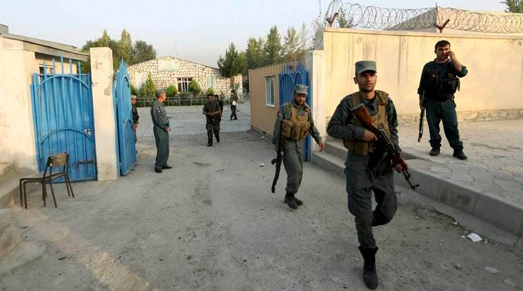 Kabul : Afghan security forces inspect the site after an attack on the American University of Afghanistan in Kabul, Afghanistan, Thursday, Aug. 25, 2016. The attack has ended, a senior police officer said Thursday, after several people were killed. Kabul police Chief Abdul Rahman Rahimi said the dead included one guard, and that about 700 students had been rescued. AP/PTI(AP8_25_2016_000017B)