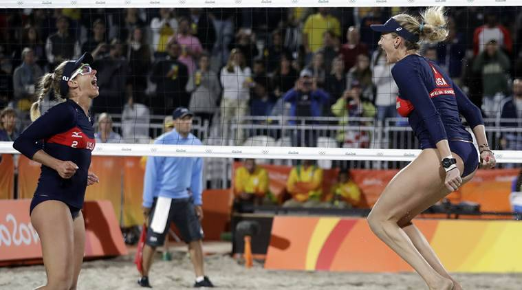 American duo advances in beach volleyball