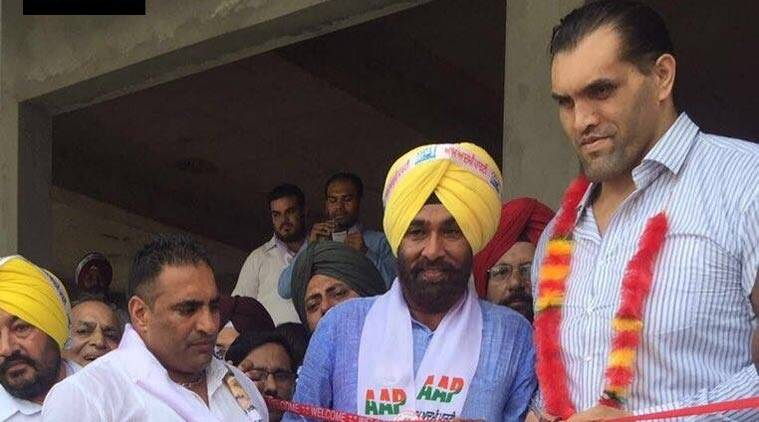 khali, the great khali, aap, dalip singh, rana, khali joins aap
