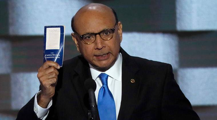khizr khan, father of muslim solder, humayun khan, captain humayun khan, father of humayun khan, hillary clinton, hillary clinton ad campaign, clinton khizr khan, democrat khizr khan, world news