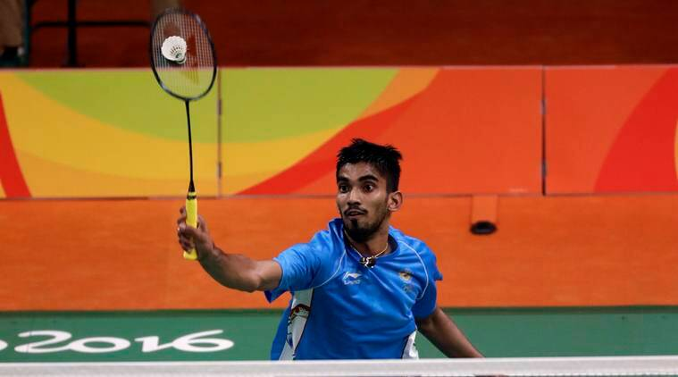 India's Srikanth Kidambi returns a shot to Mexico's Lino Munoz during a men's badminton match at the 2016 Summer Olympics in Rio de Janeiro, Brazil, Thursday, Aug. 11, 2016. (AP Photo/Kin Cheung)