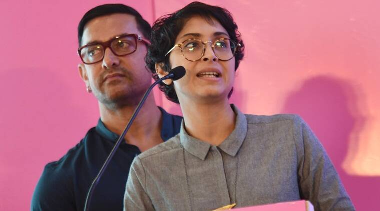 Aamir Khan with his wife Kiran Rao at the launch of 'Fertiltree' International Fertility Centre by Jaslok hospital in Mumbai on Monday. Express Photo by-Ganesh Shirsekar 15/08/2016