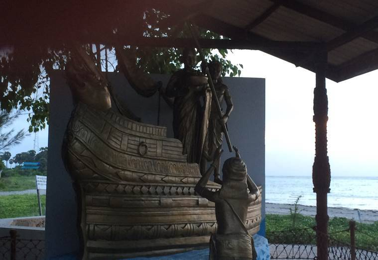 The Dambakola Patuna, the coastal village 20 kms north of Jaffna where Theri Sanghamitta, the daughter of emperor Ashoka, is said to have arrived from India with a Bodhi sapling. The Navy has constructed a new vihara at the site.
