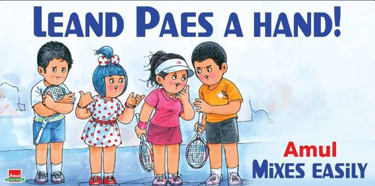 Leander Paes featured in an Olympic event for a record seventh time this year, however, much controversy happened regarding the pairing in Tennis. (Source: Amul/ Twitter)