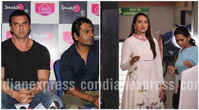 Sohail Khan and Nawazuddin Siddiqui promote Freaky Ali, Sonakshi Sinha busy promoting Akira
