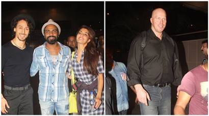 Tiger Shroff, Jacqueline Fernandez are dwarfed by Nathan Jones as Ranveer Singh meets Sanjay Leela Bhansali