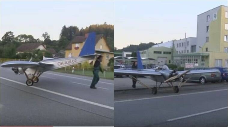airplane, plane, small airplane, man build plane, self made plane to work, man fly to work, man fly plane to work, Czech republic, world news, trending news, viral news, latest news