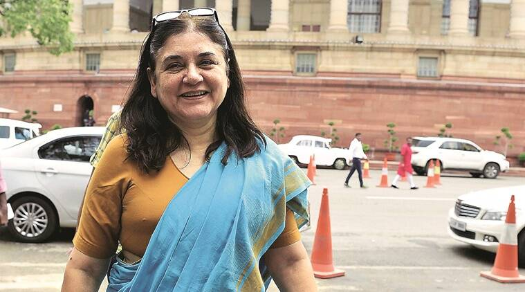 labour ministry, maternity benefit, Maneka Gandhi, paternity benefit, Maneka Gandhi Paternity leave, ministry of women and child development, maternity benefit act, paternity, indian express