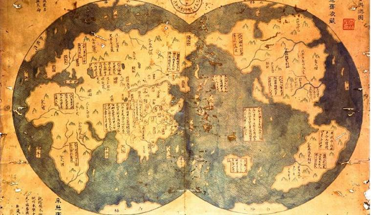China, America, Zheng He, Christopher Columbus, Chinese history, American history, Chinese map, Chinese travelers