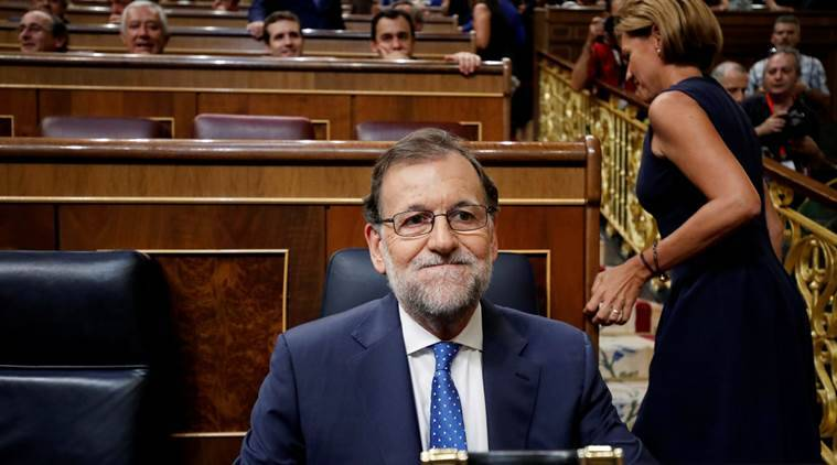 Spain's acting PM and People's Party (PP) leader Mariano Rajoy attends an investiture debate at parliament in Madrid, Spain, August 30, 2016. REUTERS/Juan Medina
