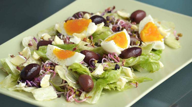 egg, egg benefits, salads eggs, egg salads, egg health benefit, egg vitamin absorption, eating salad benefits, vitamin e, vitamin e benefits, health news, food news, latest news, indian express