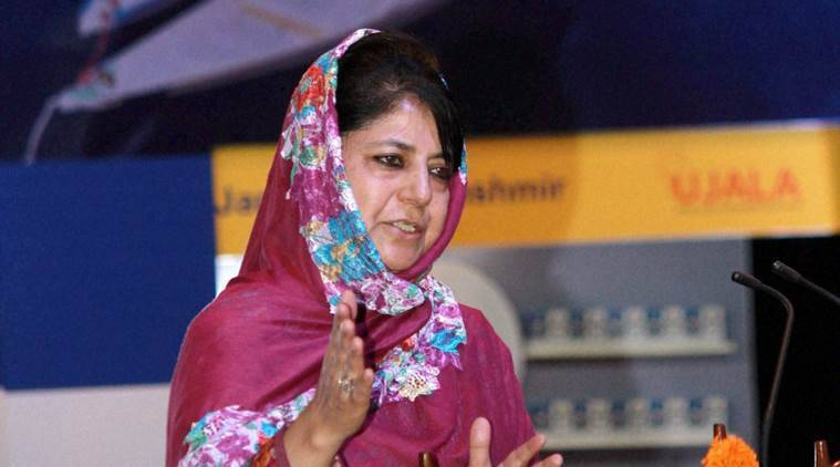 mehbooba mufti, all-party delegation kashmir, kashmir violence, kashmir curfew, hurriyat conference, kashmir hurriyat conference, mehbooba mufti at all party delegation, kashmir news, kashmir violence latest update, india news,