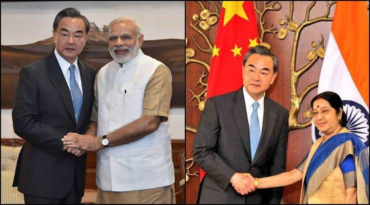 Image result for Sushma Swaraj holds talks Chinese counterpart Wang Yi,