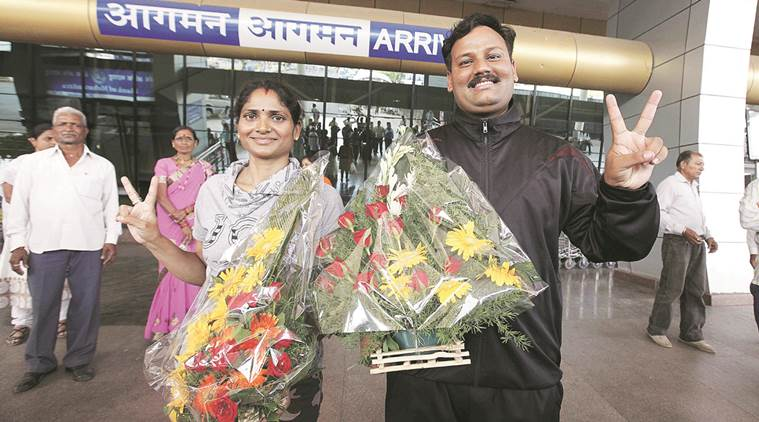 Constables Dinesh and Tarkeshwari Rathod are 'absconding'. Express Photo