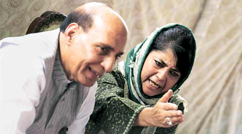 Rajnath Singh by her side, Mehbooba Mufti says 5 per cent creating havoc, focus must be on 95 per cent