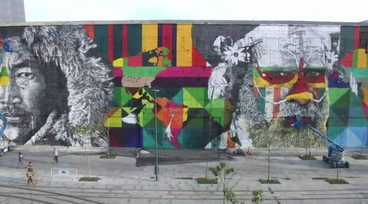 world's largest street mural, Eduardo Kobra, Brazil Graffiti artist, Brazil Graffiti, Mural, Guinness Book of world records, Rio 2016 Olympics, Rio Olympics, Rio, Olympics