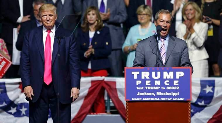 donald trump, nigel farage and donald trump, uk leader nigel farage on trump, farage on hillary clinton, nigel farage on us presidential elections, us elections 2016, donald trump vs hillary clinton, world news