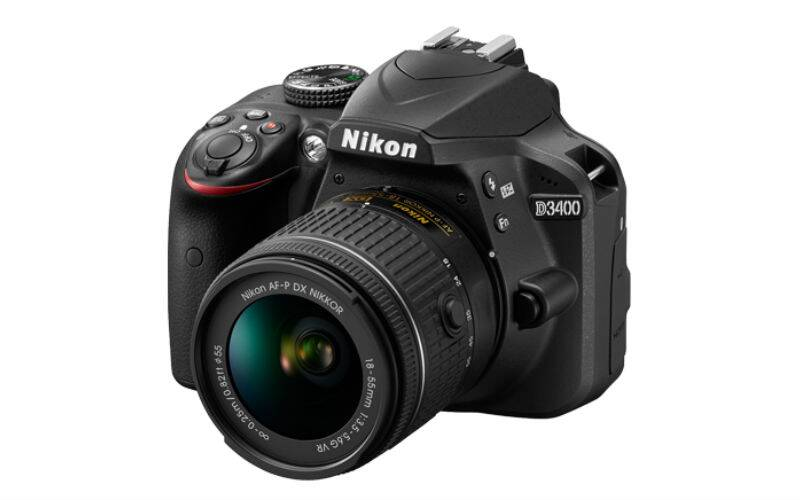 Nikon D3400 is an entry level DSLR with support for ISO upto 25600 and Bluetooth 4.1 connectivity (Source: Nikon)