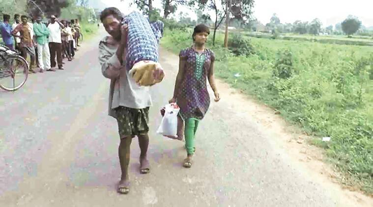 Image result for orissa man carries her wife's body more than 10 km by hand