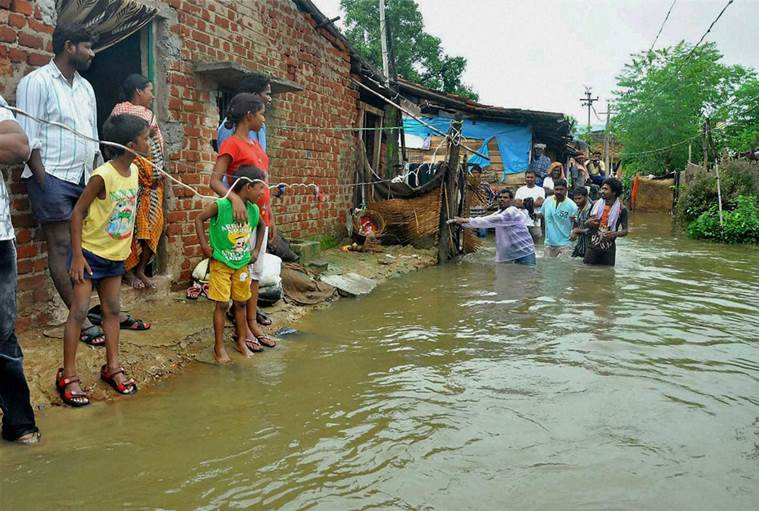 Odisha, Odisha rain, Odisha heavy rainfall, MET, Odisha cyclones, hud hud, katrina, indian express news, india news