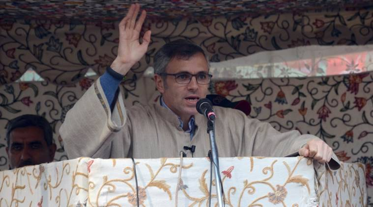 """We have decided to seek time from the President to apprise him about the real ground situation in Kashmir,"" Omar Abdullah said. Express Photo by Shuaib Masoodi"