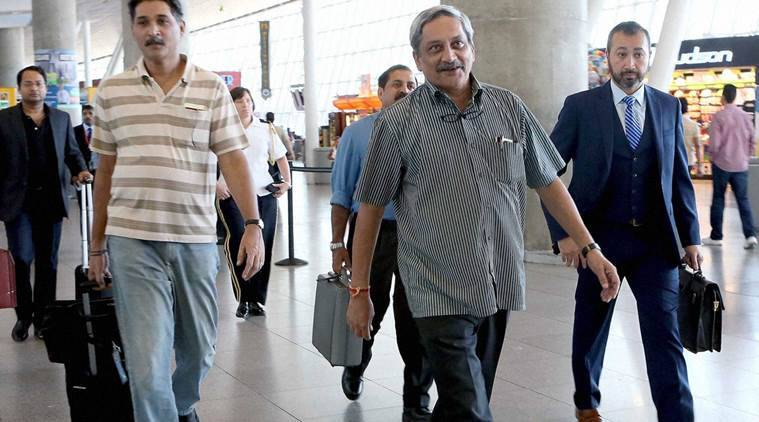 manohar parrikar, defence minister parrikar, parrikar in us, parrikar america visit, parrikar us visit, parrikar on drones, us drones technology, india us drones technology, india news, latest news, national news