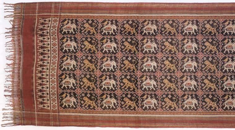 Patola sari from Gujarat. (Source: Wikimedia Commons)