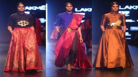 Payal Khandala, Lakme Fashion week 2016, Payal Khandala traditional designs, Indian textiles in new avatar, Indian weaver's designs at LFW