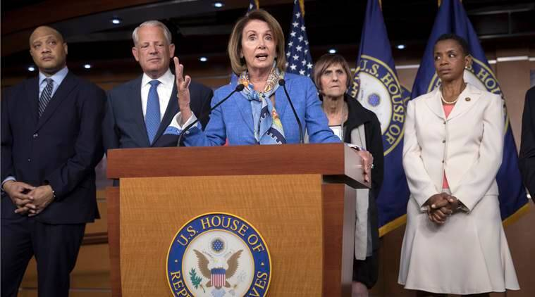 Nancy Pelosi, Pelosi, Pelosi re-elected, Democratic leadership post, US House of Representatives, US news, world news, latest news, indian express