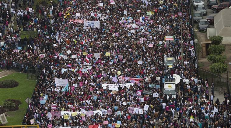 Peru, Peru protests, crime against women in Peru, Woman rights in Peru, Peru Protest for women rights, World news,