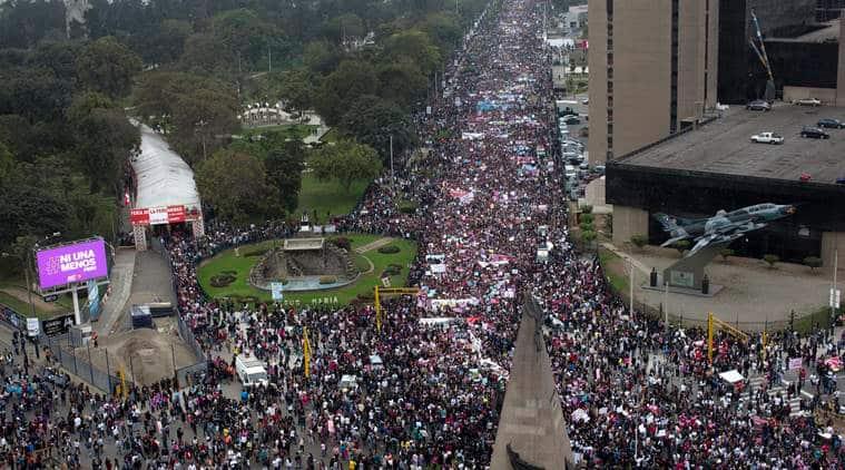 peru, peru protest march, domestic violence, crime against women, peru domestic violence, peru crime against women, peru news, world news